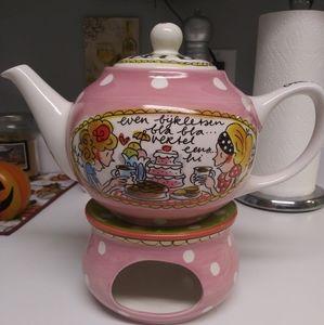 BLOND dutch tea pot and warmer